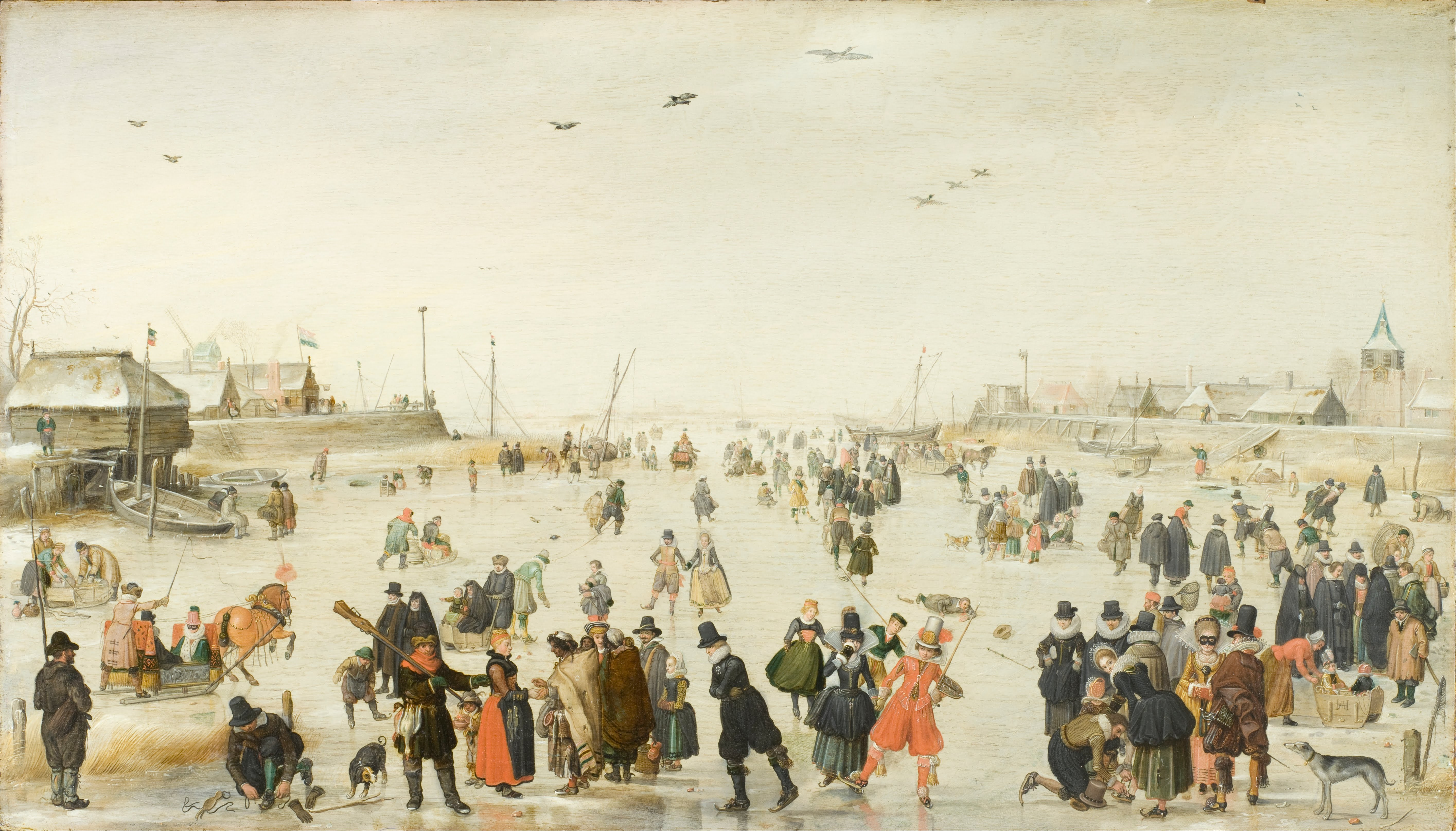 Hendrick_Avercamp_-_Winter_Scene_on_a_Frozen_Canal_-_Google_Art_Project